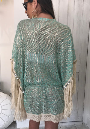 Embellished Dress Coco in Turquoise