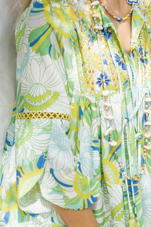 Tropical Print Top Sun Kiss