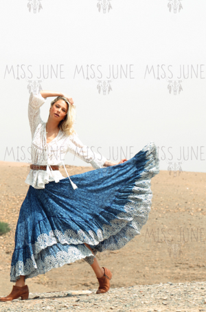 Miss June top Romance in White