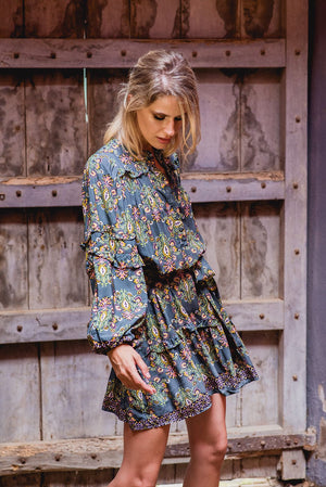 Oversized Jaase Monroe Mini Dress in Olivia Print