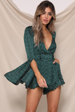 YOU'RE A GEM PLAYSUIT in EMERALD SPOT