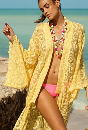 Embroidered Miss June Kaftan Yellowstone