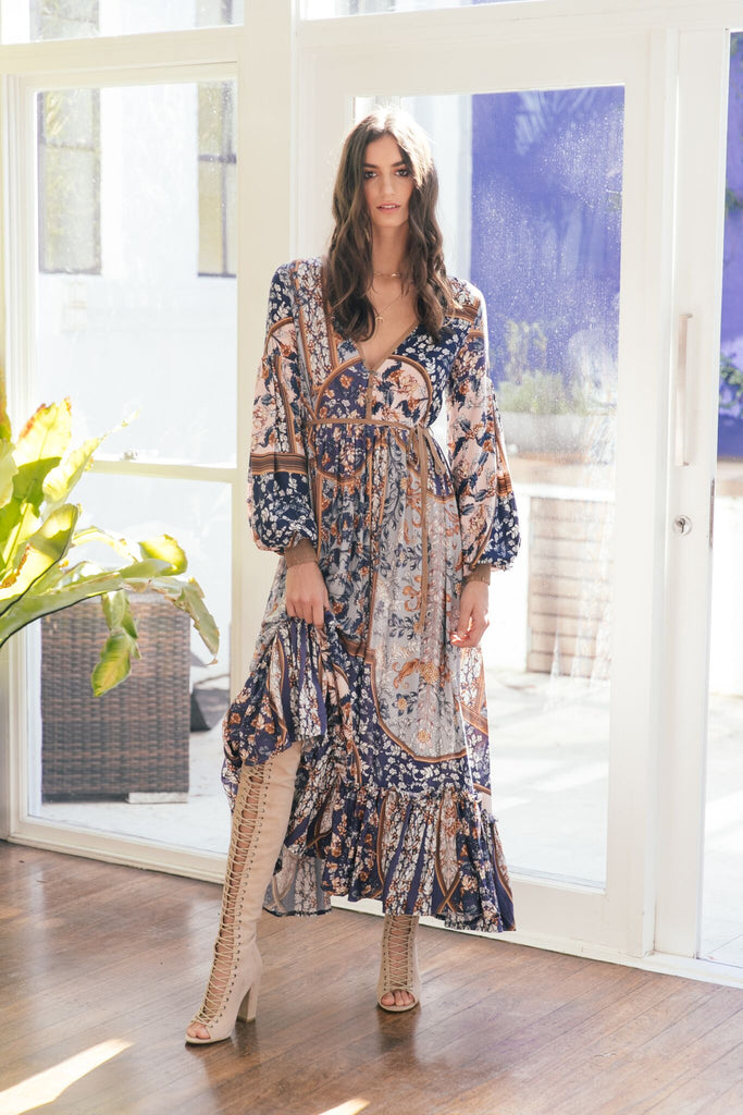 Cyrus Maxi Dress in Yoko Print
