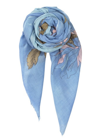 Dainty Scarf in Lichen Blue