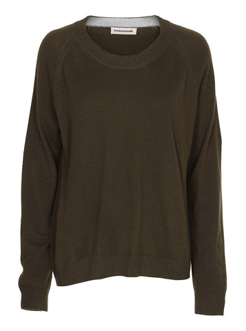 Custommade Casja Pullover in Dark Olive