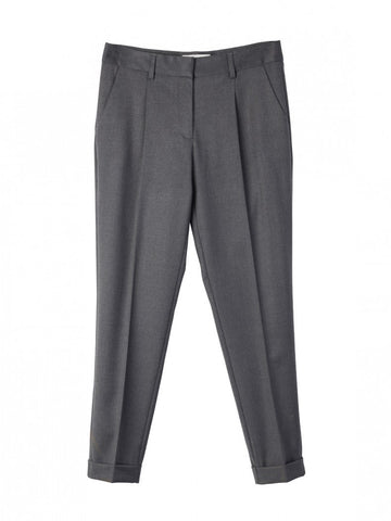 Indi&Cold V117 Tapered Leg Tailored Pants in Grey