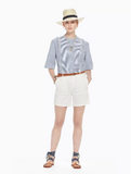 Cotton Chino Shorts in Off-White