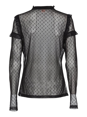 Rosalyn Lace Top in Anthracite Black