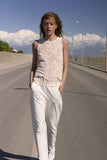 Custommade Samine Print Top in Whisper White