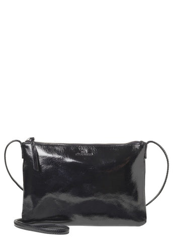 Lymbo Patent Leather Cross Body Bag in Black