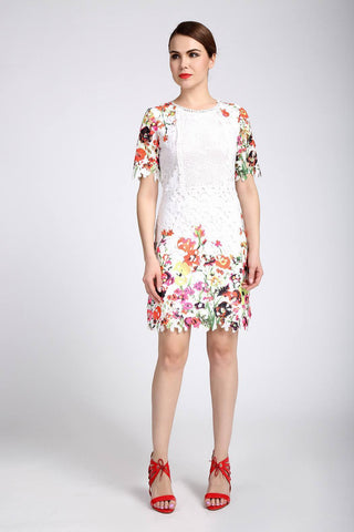 Jus D'Orange Calin Applique Dress in White