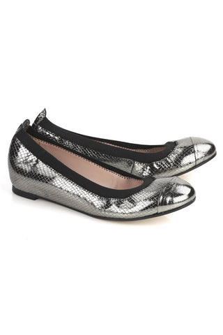 Elia.B Bananas Hidden Wedge ballet flat in Pewter