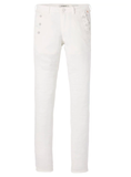 Skinny Fit Sailor Pants in Off White