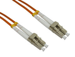 LC-LC Multimode OM3 Fibre Optic Cables Orange