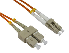 LC - SC Multimode OM3 Fibre Optic Cables Orange