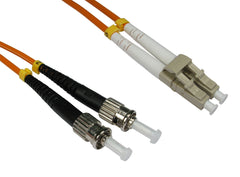 LC - ST Multimode OM3 Fibre Optic Cables Orange