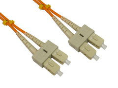 SC - SC Multimode OM3 Fibre Optic Cables Orange
