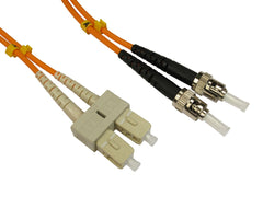 ST - SC Multimode OM3 Fibre Optic Cables Orange