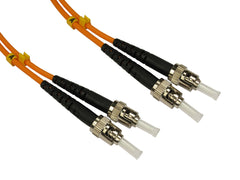 ST - ST Multimode OM3 Fibre Optic Cables Orange