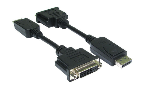 Display port Male (20 pin) to DVI Female cable 15cm