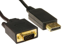 Display port Male to VGA Male cable 2mtr