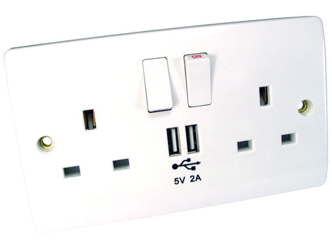 USB and UK Power Sockets