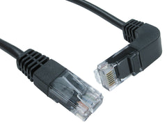 Cat5e Patch Cables Straight to Right Angled Down