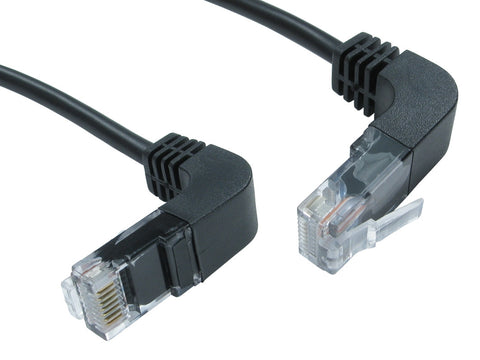 Cat5e Patch Cables Right Angled Up to Right Angled Down