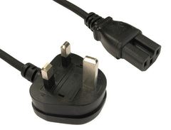 UK to IEC C15 Power Cable - 2 Mtr