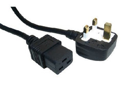 UK to IEC C19 Power Cable - 2 Mtr