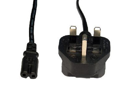 UK Mains Power Cable IEC C7 Fig.8 - 2 Mtr