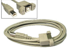 USB 2.0 Extension Cable B male - B female (Faceplate Mount) - 3 mtr