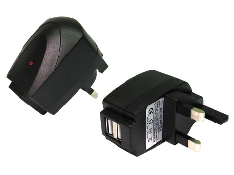 UK Plug with 2 USB ports