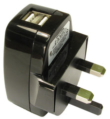 UK Mains to USB Charger 2.1 Amp