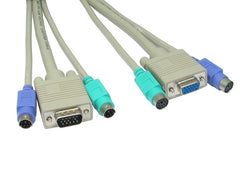 2x Male - Female PS/2 1x Male - Female SVGA Cable