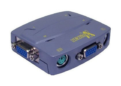 Compact VGA + PS/2 KVM Switch(4 Port)