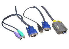 Micro 2 Port PS/2 KVM With PS/2-USB Leads