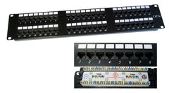 48 Port 2U Rack Mountable Cat5e RJ45 UTP Patch Panel