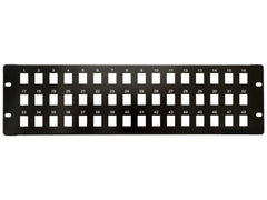 48 Port 3U Rack Mountable Black Excel Cat5e RJ45 UTP Patch Panel