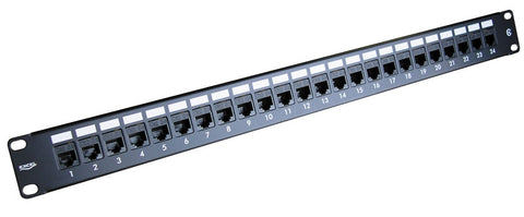 Excel Cat5e RJ45 UTP 1U 24 Port Through Coupler Patch Panel