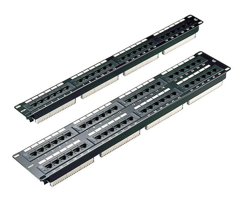 48 Port 2U Rack Mountable Black Excel Plus Cat5e RJ45 UTP Patch Panel
