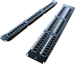 48 Port 2U Black Excel Cat6 RJ45 UTP Patch Panel