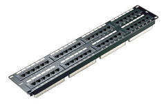 48 Port 2U Black Excel Plus Cat6 RJ45 UTP Patch Panel