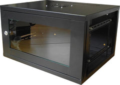 6U 450mm Deep Wall Mounted Data Cabinet - Black