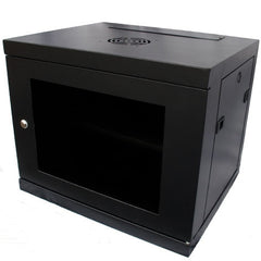 9U 450mm Deep Wall Mounted Cabinet - Black