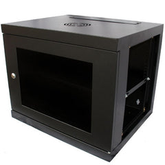 9U 550mm Deep Wall Mounted Data Cabinet - Black