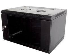 9U 450mm Deep Wall  Mounted Data Cabinet - Black