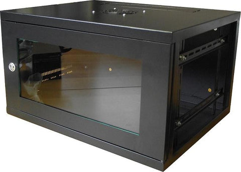 12U 450mm Deep Wall Mounted Data Cabinet - Black