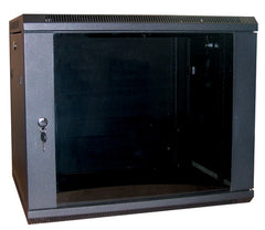 18U 600 x 390 mm Black Deep Wall Cabinet