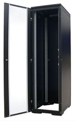 47U 600 x 600 mm Black Deep Data Cabinet Flat Pack